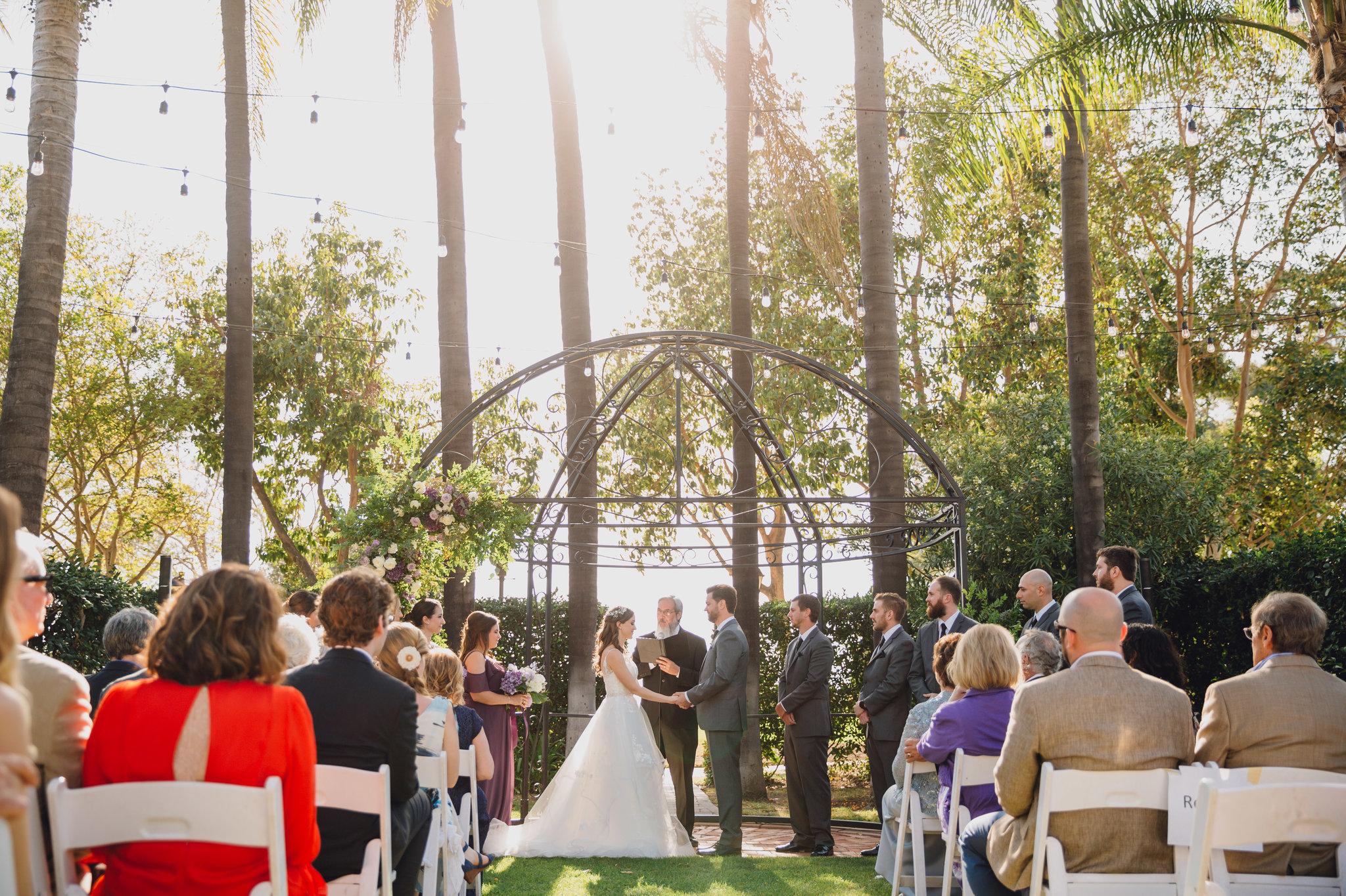 Outdoor Ceremony   Muckenthaler Mansion