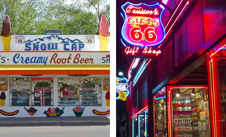 Delgadillo's Snow-Cap and Cruiser's Cafe and Gift Shop on Route 66