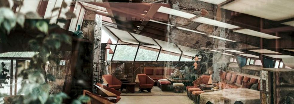 One of the interior rooms at Taliesin West in Scottsdale, Arizona