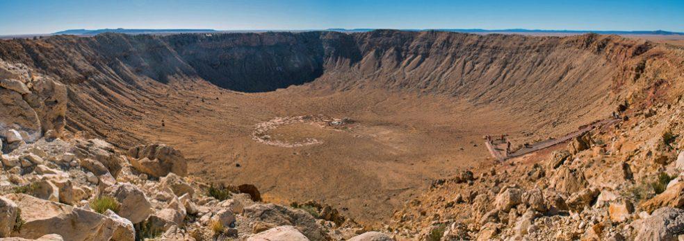 Meteor Crater in northern Arizona