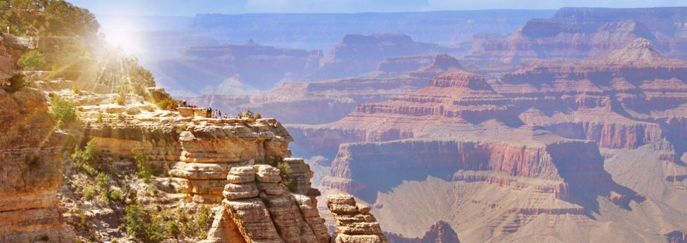 Sunrise at Mather Point at the Grand Canyon