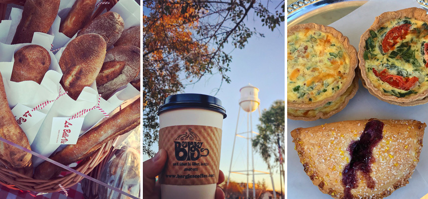 Food selections from La Belle Vie Bakery, Bergies Coffee Roast, and AZ Food Crafters