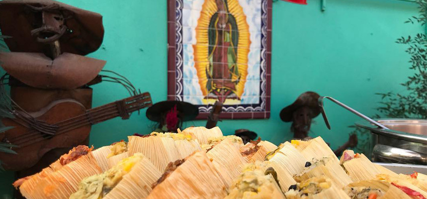 A platter of tamales in El Charro