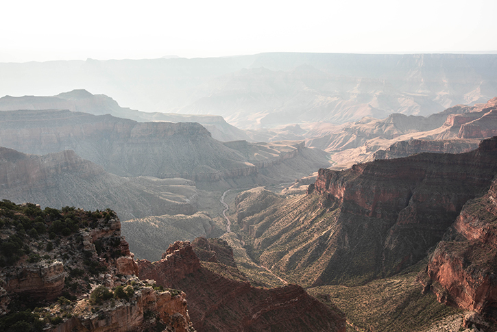 Overlook at the North Rim of the Grand Canyon National Park.