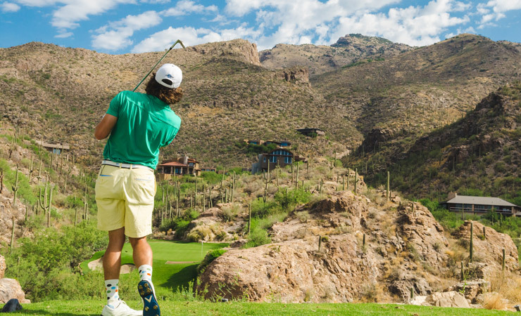 A look at the mountains from the golfer's point of view