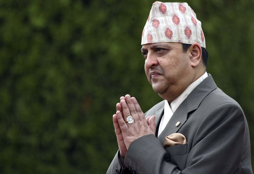 Nepal's deposed king Gyanendra Shah