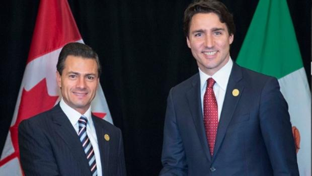 trudeau with mexican president