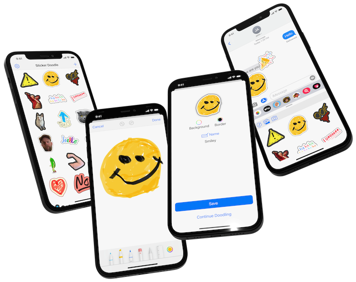 Former Apple Employee Launches New iOS App - Sticker Doodle Image
