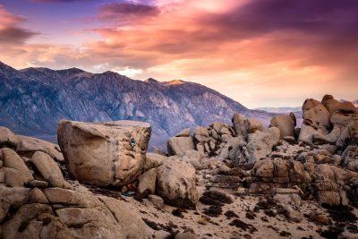 Bishop rock climbing