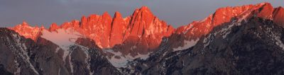 Mt Whitney Alpenglow
