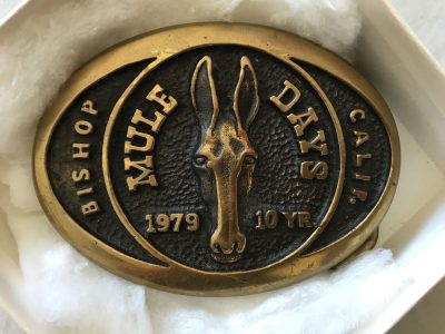 image: mule days buckle from 1979