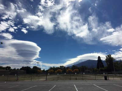 photo of afternoon clouds over Bishop