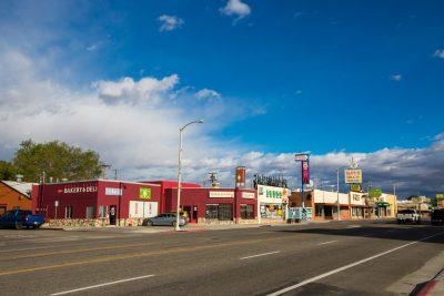panorama image of downtown Bishop