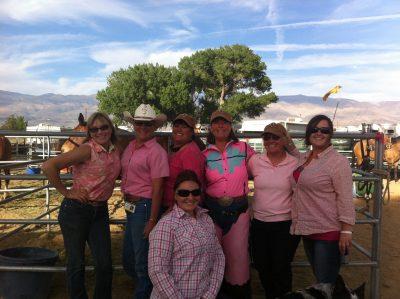image of a group of volunteer women wearing pink