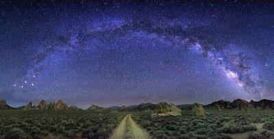 night sky eastern sierra