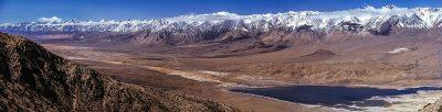 Panoramic view of the Sierra Nevada escarpment.