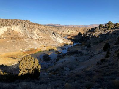 image of Hot Creek on a fall morning