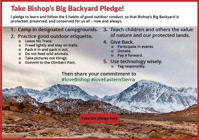 Take Bishops Big Backyard Pledge here