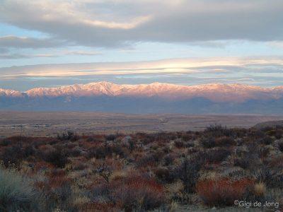 White Mountains in Winter. Bishop. CA