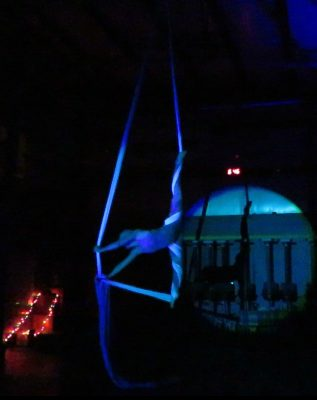 Aerial silks performance. Bishop. CA