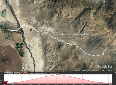 Death Valley Rd to Waucoba Saline Rd map