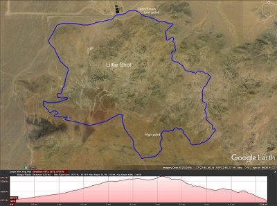 Little Shot trail cycling map