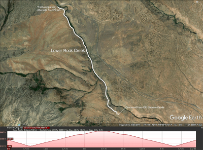 Lower Rock Creek map