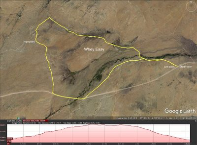 Whey Easy biking map