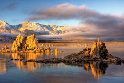 Mono Lake with Tufa and storm clouds