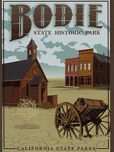 Retro Poster Bodie State Park