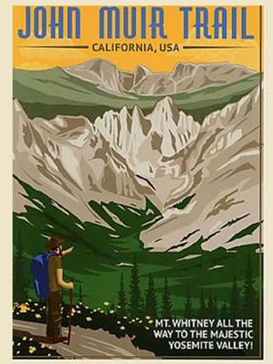 John Muir Trail Poster of JMT California