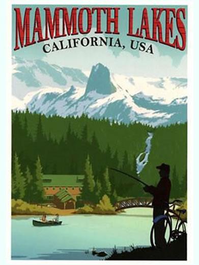 Mammoth Lakes CA Retro Poster