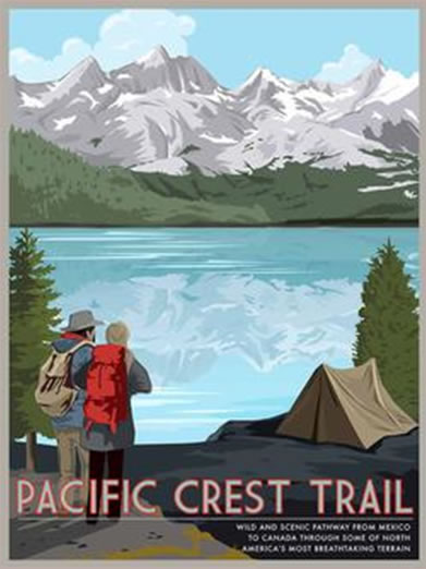 PCT Retro Camp and Trail Poster