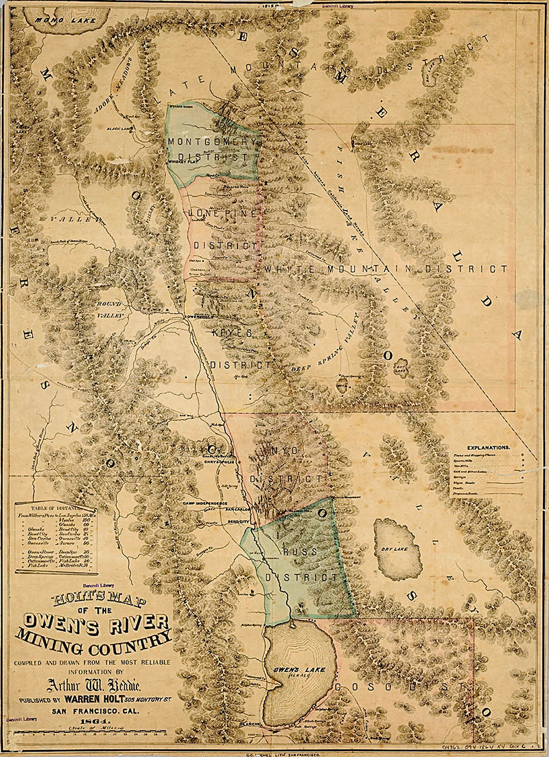 History Owens River Mining Map