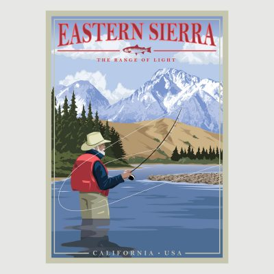 Eastern Sierra - Range of Light Retro Poster