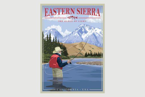 Eastern Sierra - Range of Light Retro Poster