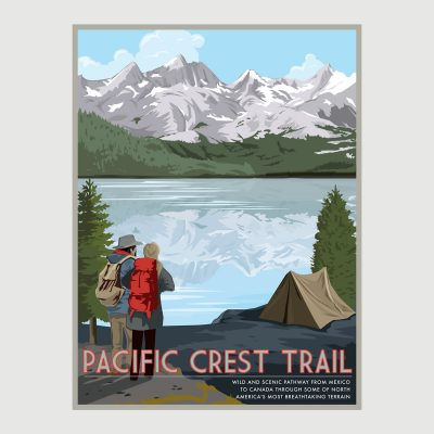 Pacific Crest Trail Retro Poster