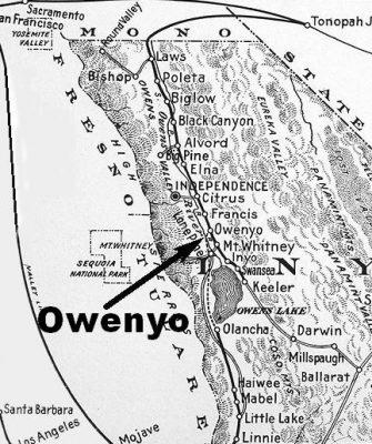 Owenyo Location Map.