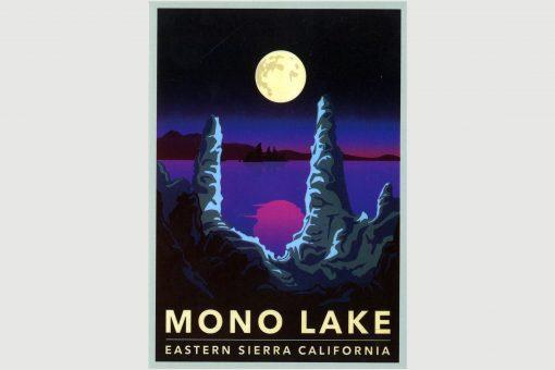 Retro Poster Mono Lake