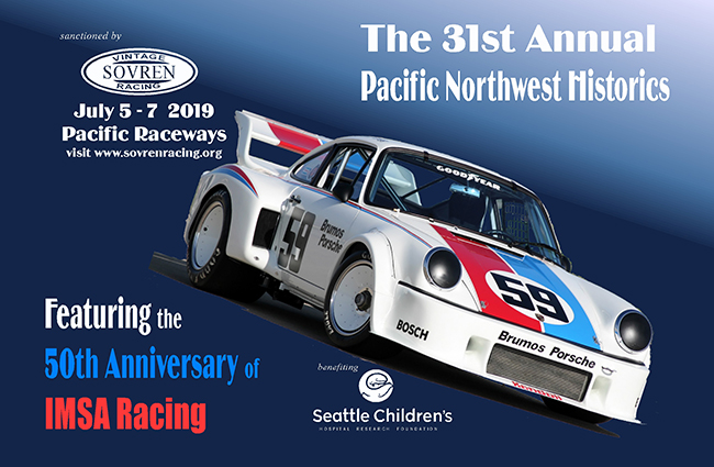 The Poster for the 31st Annual SOVREN Pacific Northwest Historic Races