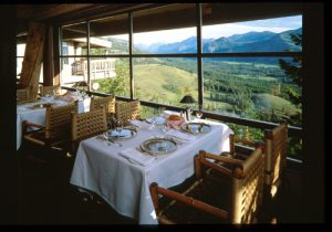 View from Sun Mountain Lodge Dining Room