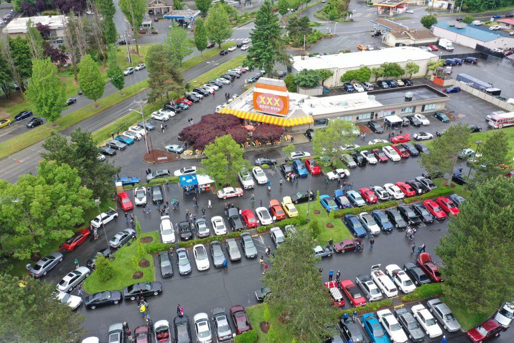 Burgers & BMWs Drone photo by Chris Randall