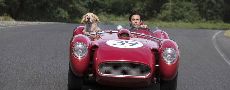 The Art of Racing in the Rain, Denny And Enzo Driving, Front View