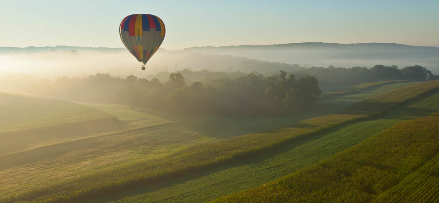 Ride over the Amish Countryside in a Hot Air Balloon
