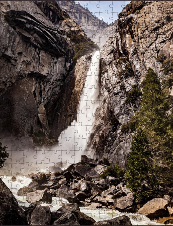 Puzzle Of Lower Yosemite Fall At Yosemite National Park