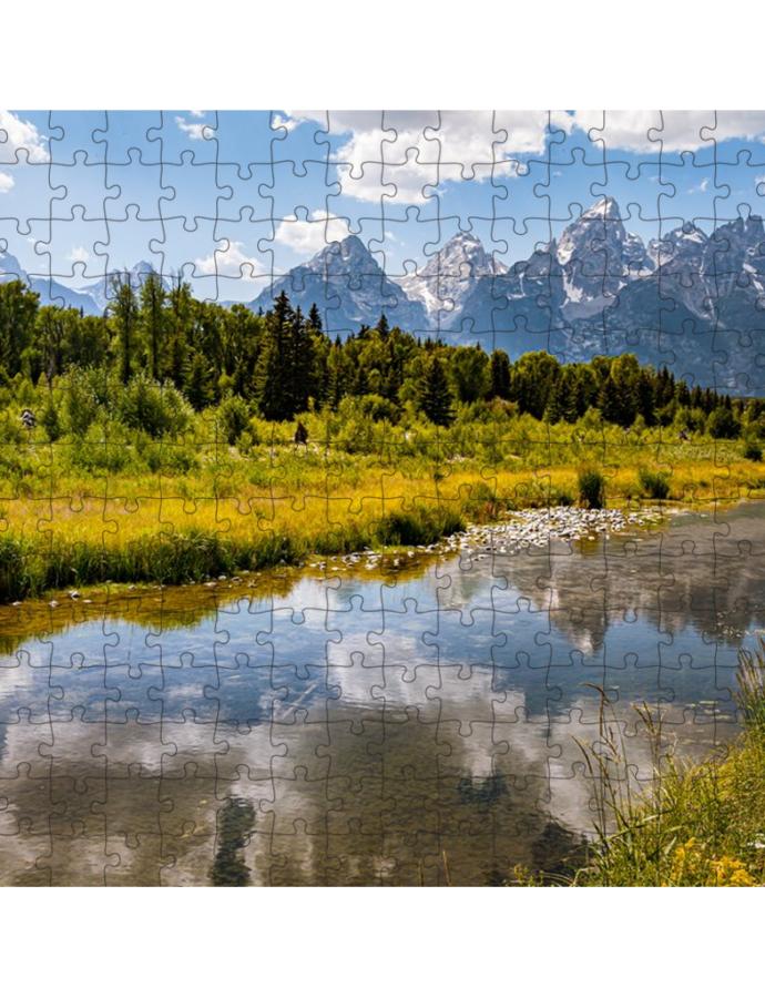 Puzzle of Schwabacher's Landing at Grand Teton National Park