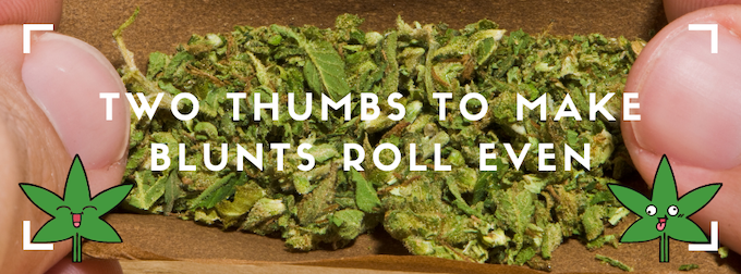 two thumbs make blunts roll