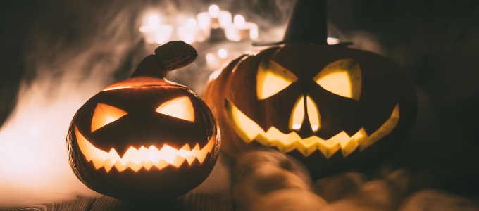pumpkins smoking on halloween