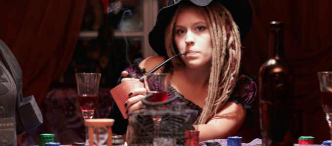 witch smoking halloween weed