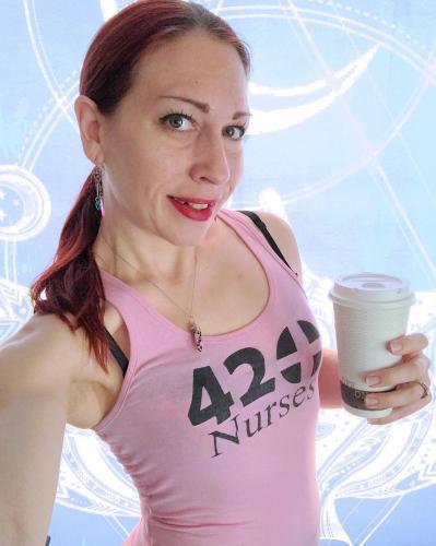 Amber Lynne Coffee Selfie